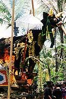 Mise à feu du sarcophage - Cliquez sur la photo pour l'agrandir