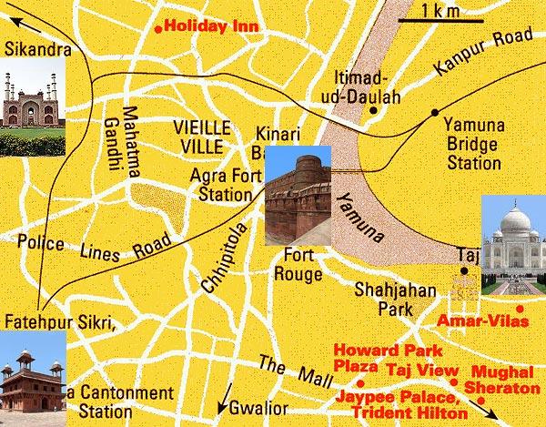 Carte De Linde Agra.Carte Inde Du Nord Et Rajasthan Plan Delhi Et Agra