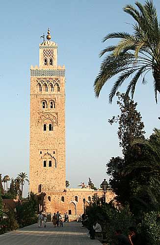Minaret de la mosquée de Koutoubia de Marrakech