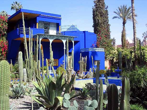الحدائق والجلسات في المغرب.  ح